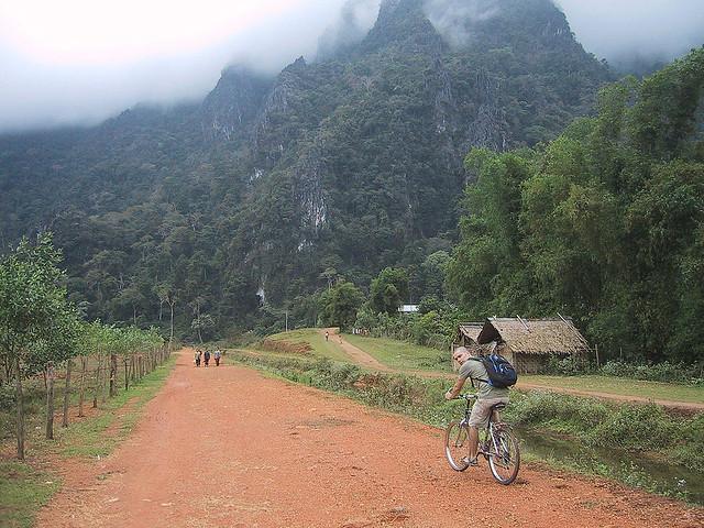 Vang Vien, backpackers Laos
