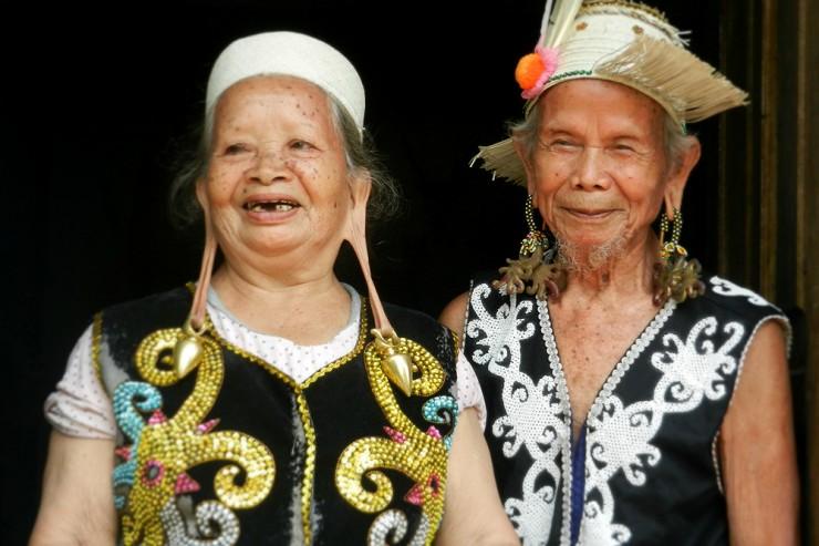 Borneo, Dayak del fiume Mahakam