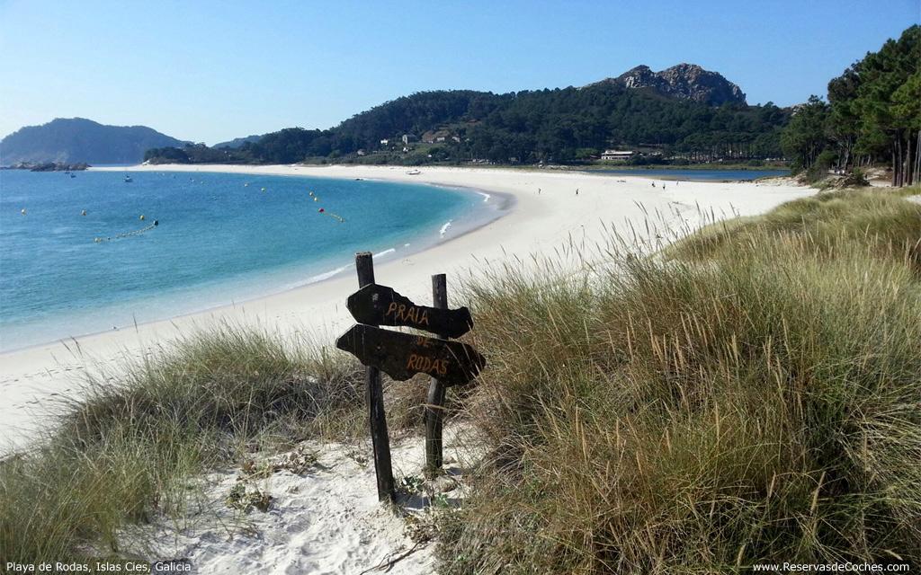 Playa de rodas, Galizia, Spagna