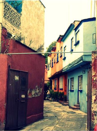 strade colorate di Coyoacan