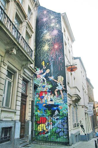 Bruxelles, murales