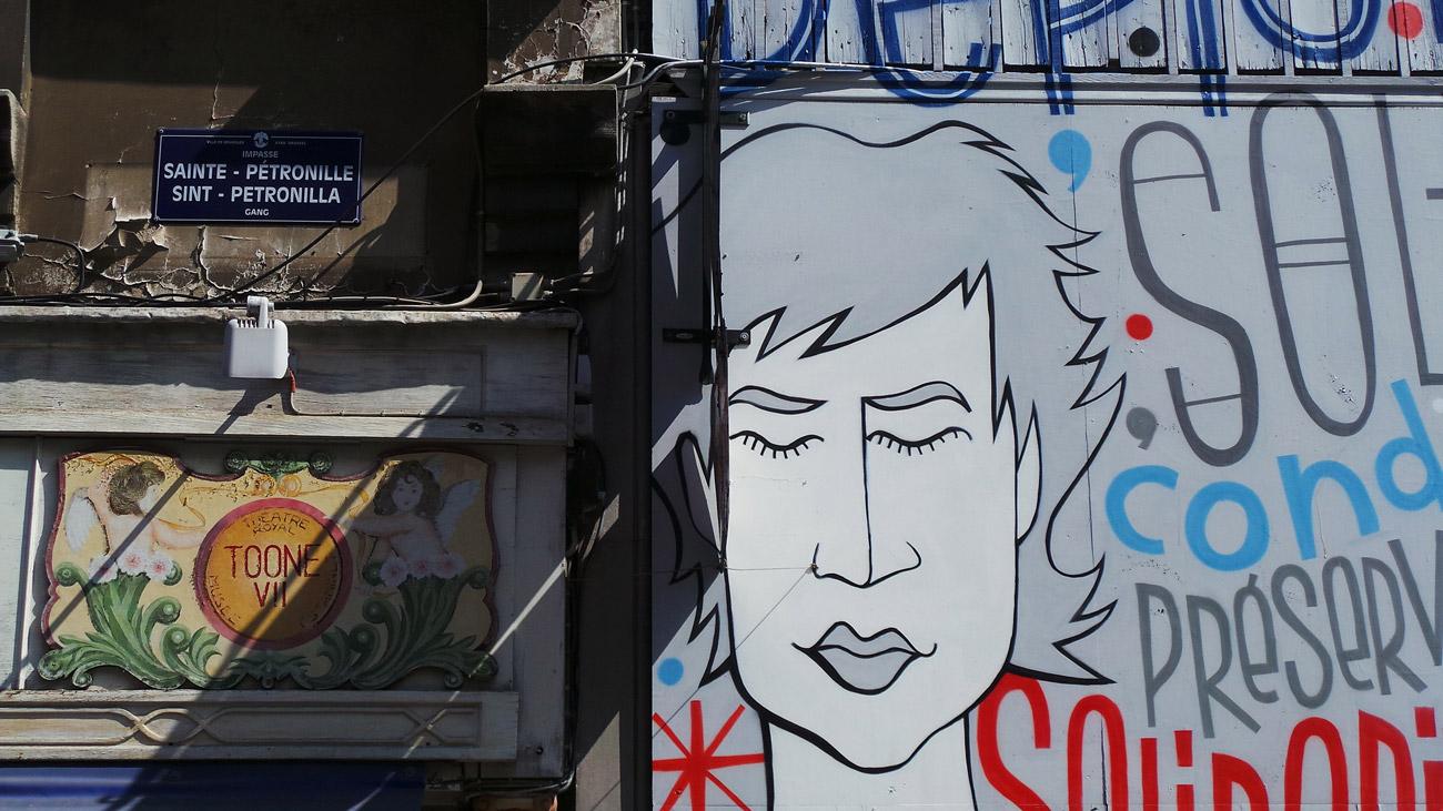 murales e fumetti a bruxelles