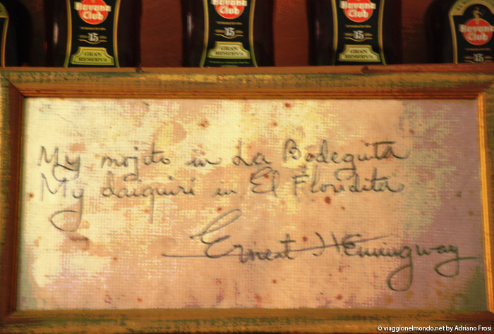 Dedica Hemingway, bar Habana