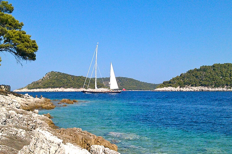 lastovo, isole croazia in barca