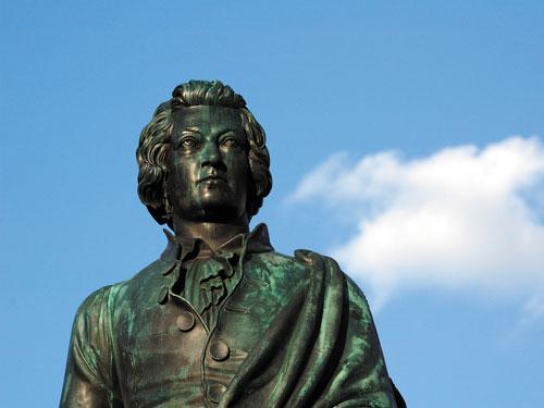 statua mozart, salisburgo