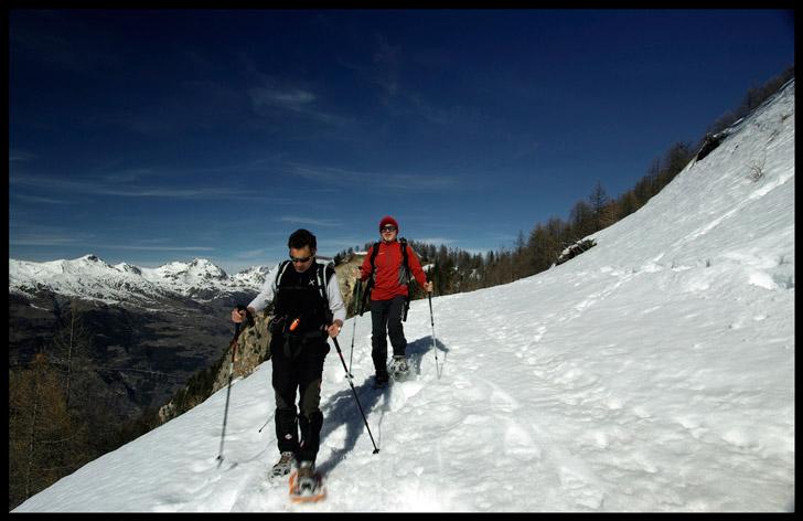 Valle d'Aosta percorsi ciaspole