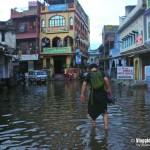 India, strada allagata
