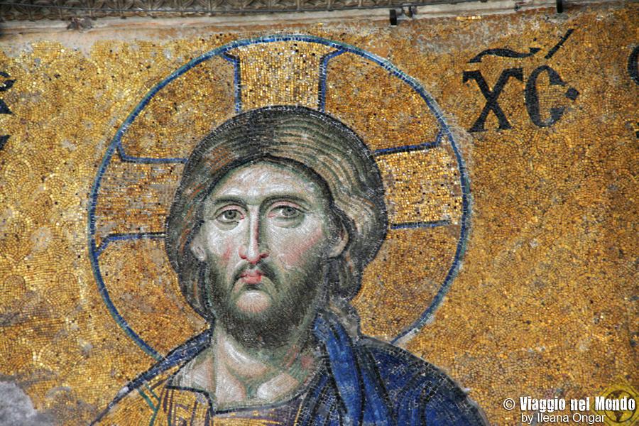 Mosaico del Cristo, Aya Sofya - Turchia