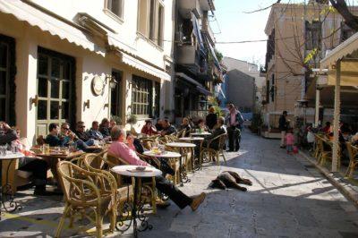 atene,, plaka, ristoranti