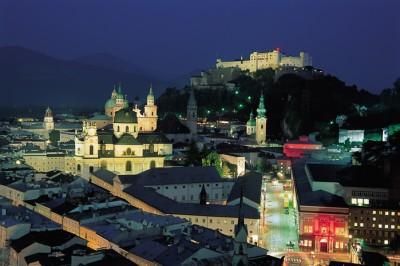 Salisburgo di notte