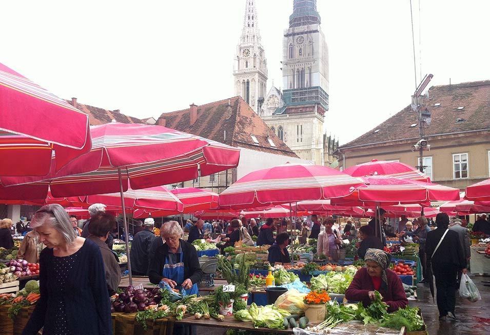 zagabria, il mercato