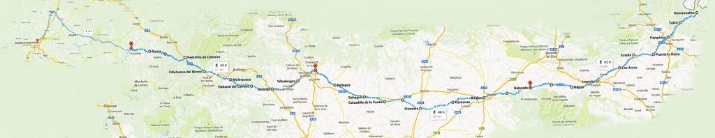 mappa Cammino di Santiago