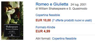 Compra su Amazon Romeo e Giulietta