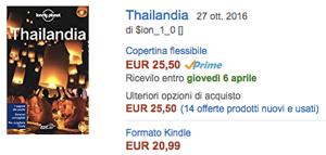 compra su Amazon la guida sulla Thailandia di Lonely Planet
