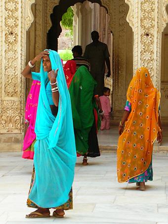 Done in sahari nel forte di Jodhpur