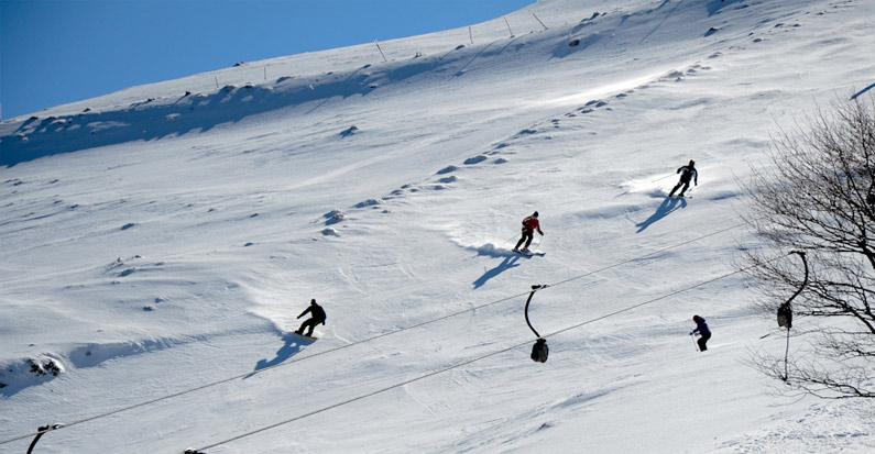 Sciare in sardegna
