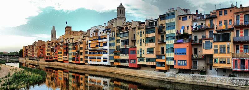 Girona, casas penjades