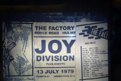 itinerario musicale Joy Division