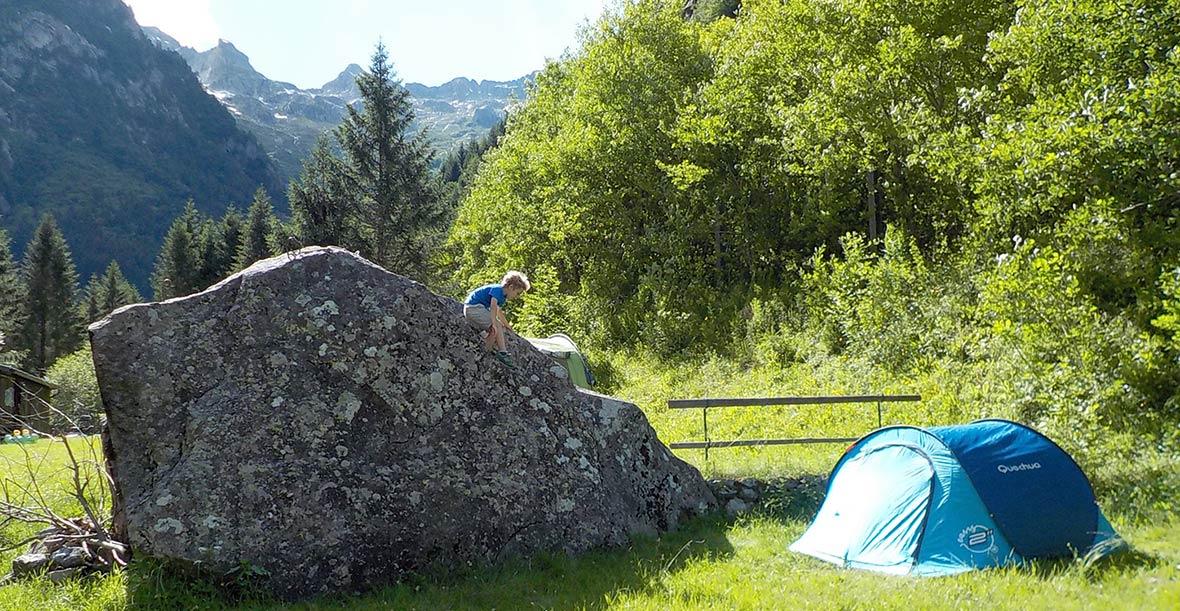 cinque campeggi in montagna dalle alpi agli appennini