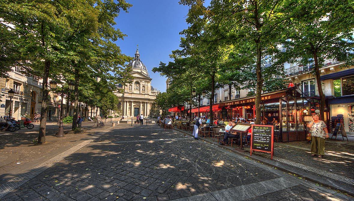 Parigi. Quartiere latino. Sorbonne.