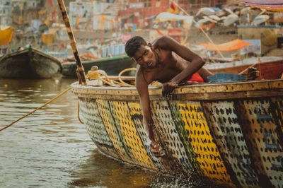 Barche sul Gange a Varanasi
