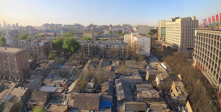 Vista su hutong, Pechino