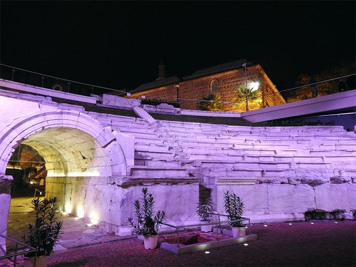 Plovdiv, Stadio Romano e Moschea