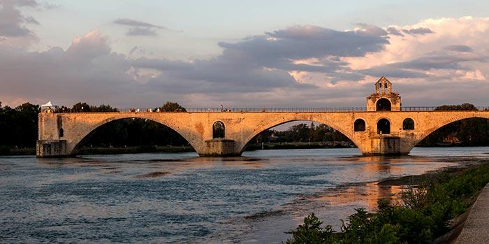 Tramonto ad Avignone