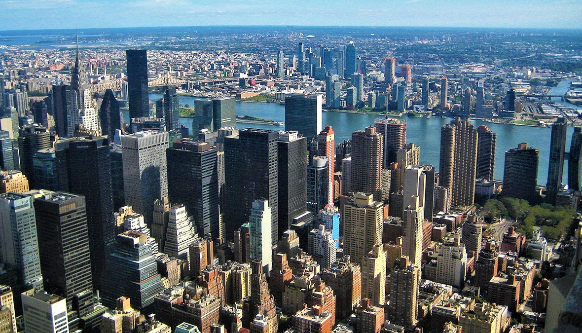 NY, Vista dall'Empire State Building