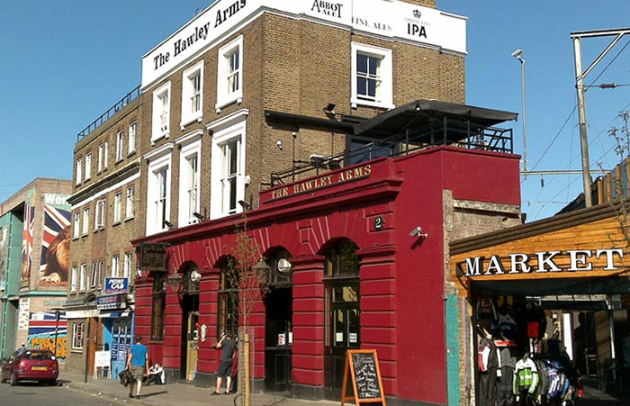 Camden Town, The Hawley Arms Pub