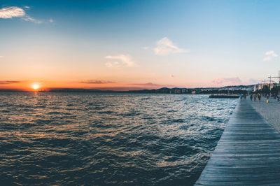 Salonicco: tramonto sul lungomare