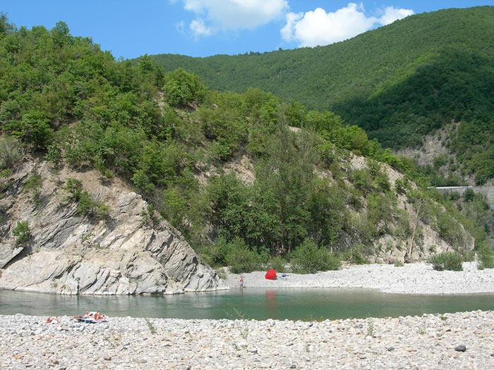 Spiagge in Val Trebbia