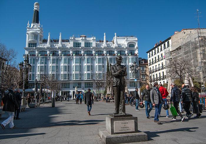 Plaza Santa Ana, Quartiere Letras Madrid
