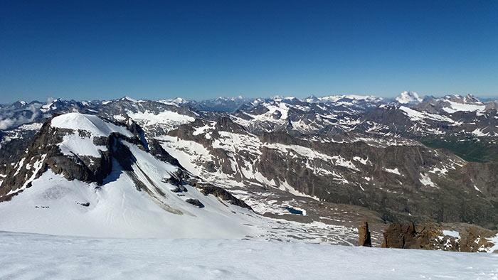 Panorama dalla vetta Gran Paradiso