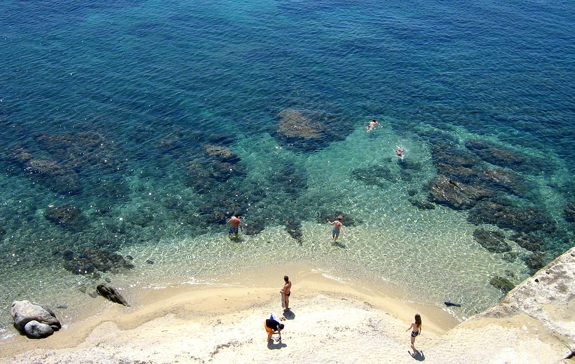 Calcidica, spiaggia monte Athos