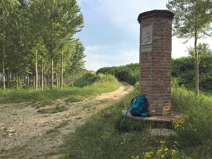 Via Francigena tra Orio Litta e Piacenza