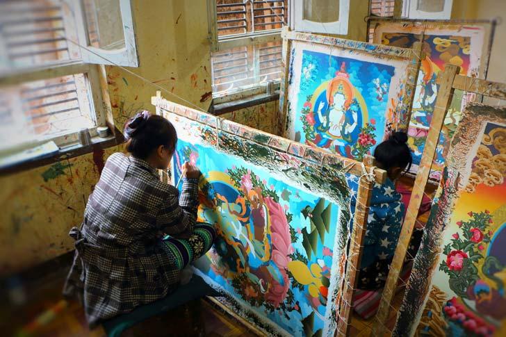 pittori di Bhaktapur, Nepal