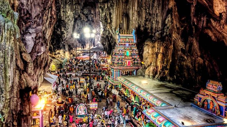 Thaipusam, Grotte di Batu
