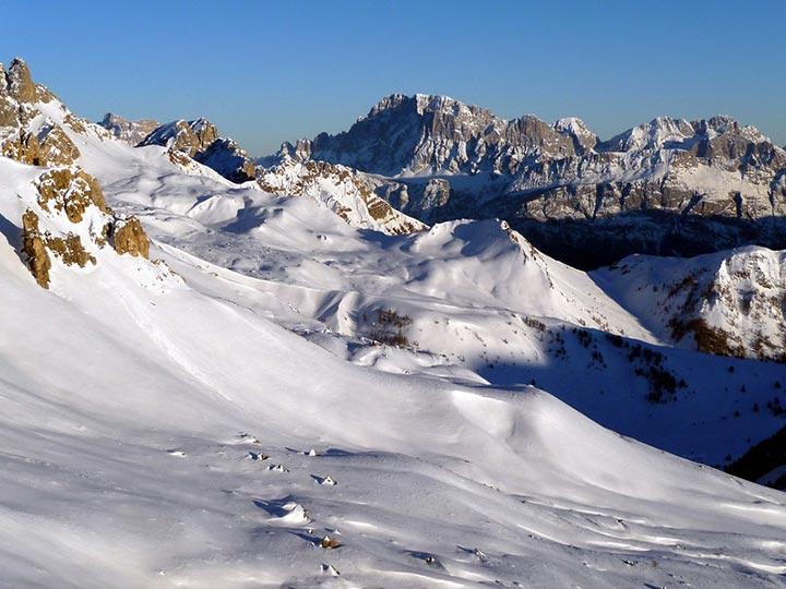 Vista sopra il Passo San Pellegrino