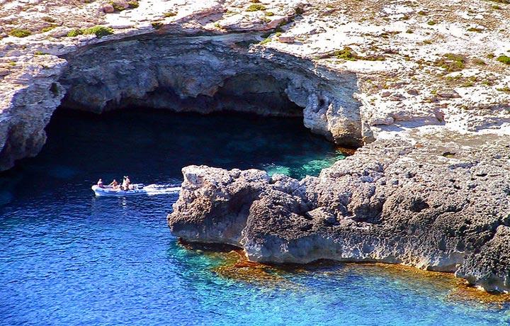 Lampedusa, grotte